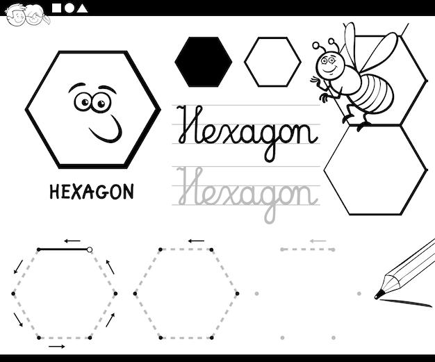 Formas hexagonales básicas geométricas para colorear | Descargar ...