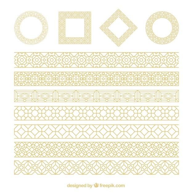 formas ornamentales doradas descargar vectores gratis
