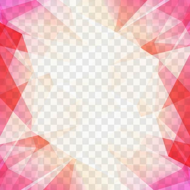 Formas Poligonales Rosas Para Un Fondo Geom 233 Trico
