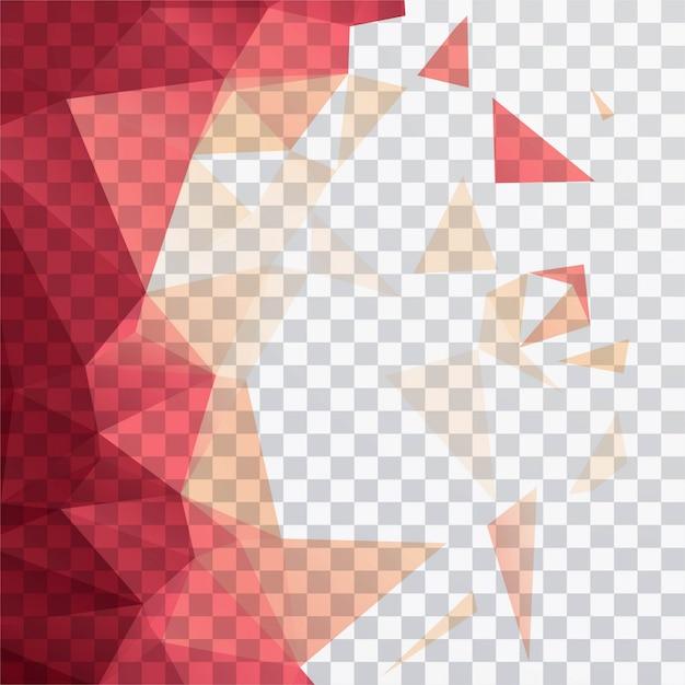 Formas poligonales sobre un fondo transparente vector gratuito