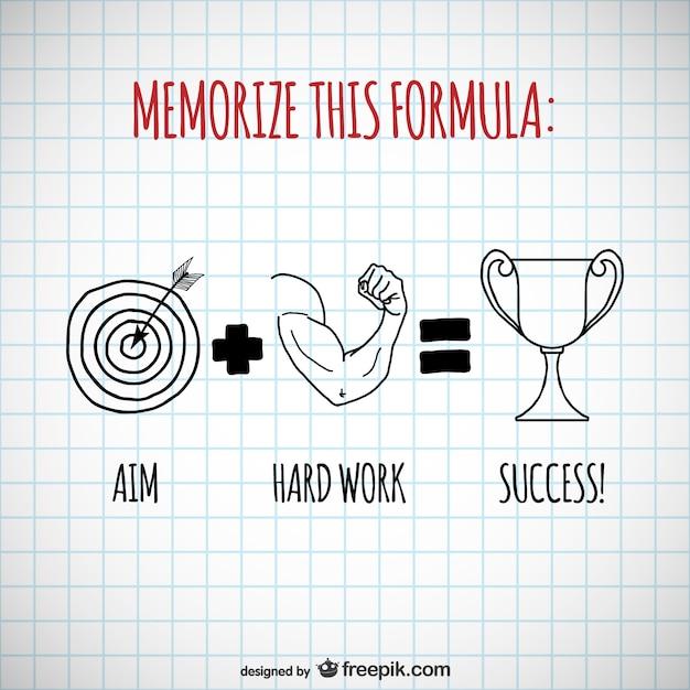 Formula del éxito vectorial Vector Gratis
