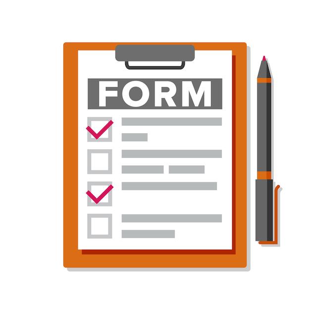 Formulario de reclamación. documento de negocio. Vector Premium