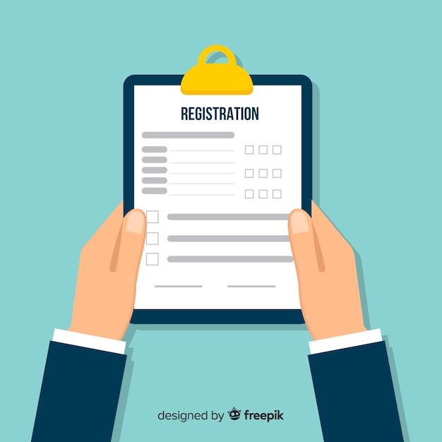 Formulario registro vector gratuito
