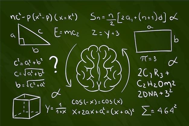 Fórmulas científicas de estilo dibujado a mano vector gratuito