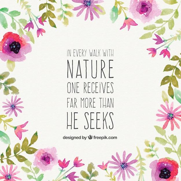 Frase Bonita De Naturaleza Vector Gratis