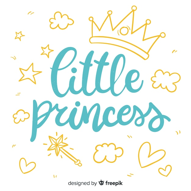Frase con caligrafía en estilo princesa vector gratuito