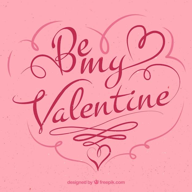 Frase Del Día De San Valentín Vector Premium