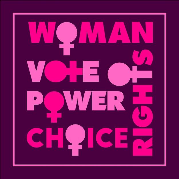 Frase Motivacional De Los Derechos De La Mujer Vector Premium