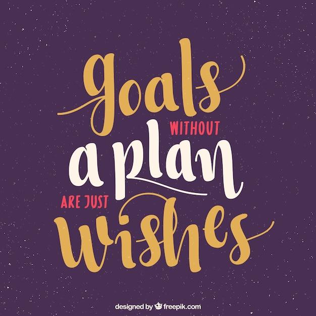 Frase Motivacional Sobre Objetivos Vector Gratis