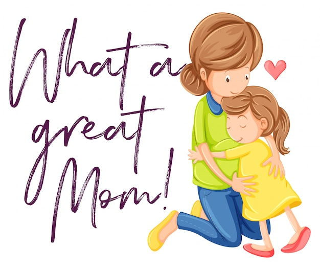 Frase Que Gran Madre Con Mama E Hija Abrazandose Descargar