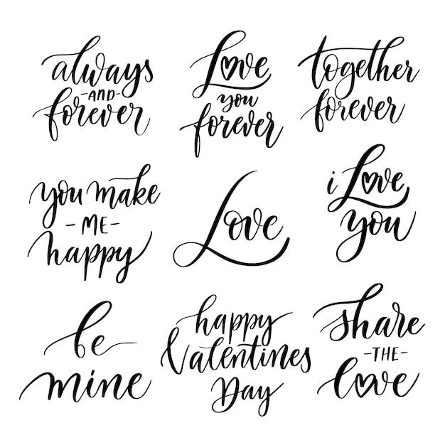 Frases Motivacionales De Amor Vector Premium