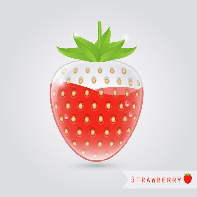 Fresa de cristal con zumo de fresa dentro descargar - Como hacer zumo de fresa ...