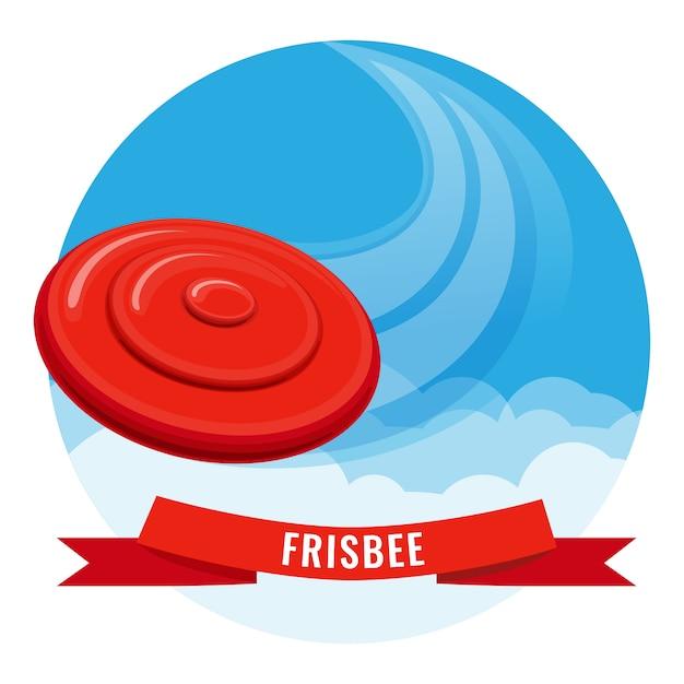 Frisbee fuera de cartel de actividad. Vector Premium