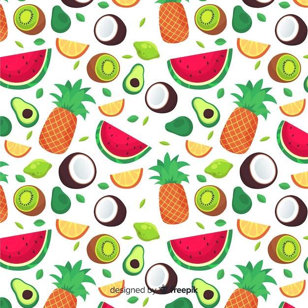 Frutas tropicales vector gratuito