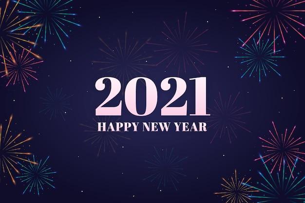 Fuegos artificiales nueva lágrima 2021 Vector Premium