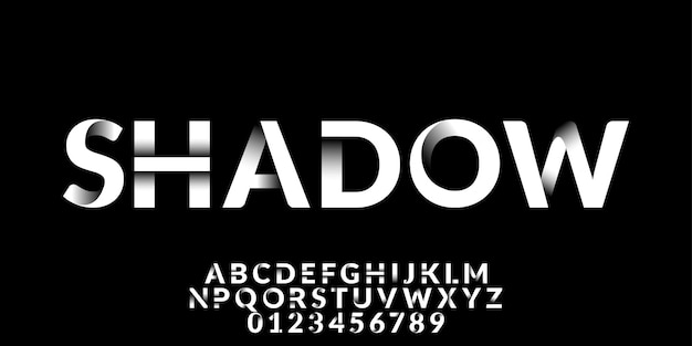 Fuente efecto sombra blanca Vector Premium