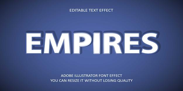 Fuente de efecto de texto vectorial editable de creative empires Vector Premium