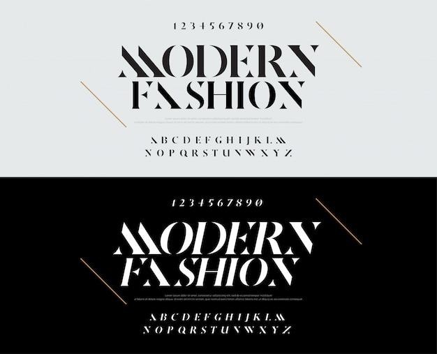 Fuente de letras del alfabeto elegante. tipografia moda Vector Premium