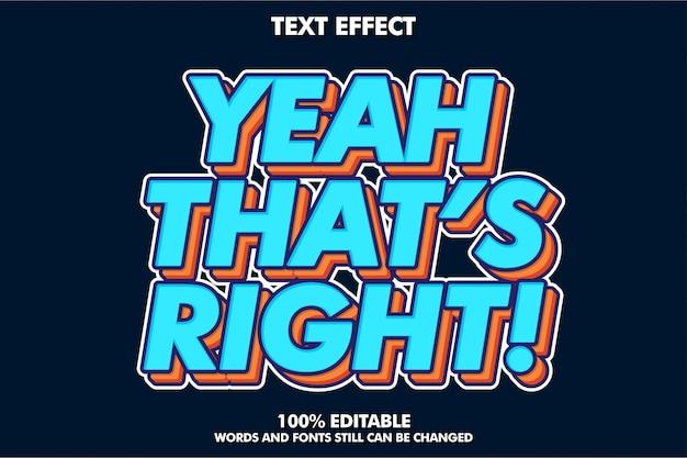 Fuerte efecto de texto retro pop art para banner de estilo antiguo Vector Premium