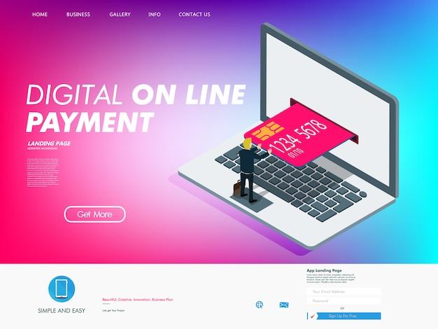 Función de tarjeta de crédito en la era digital. Vector Premium
