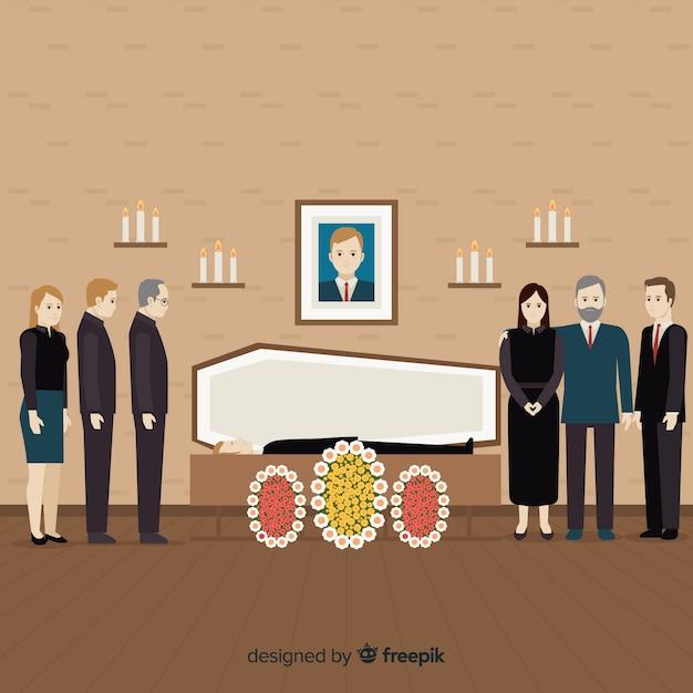 Funeral vector gratuito