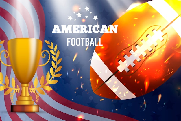 Fútbol americano realista vector gratuito