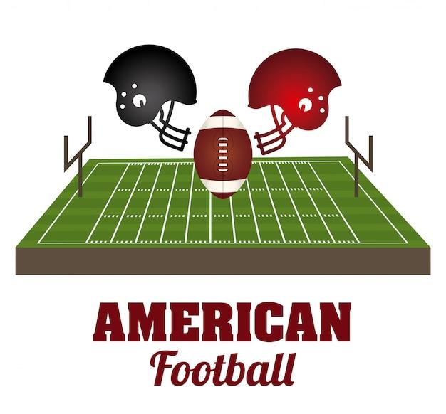 Fútbol americano Vector Premium