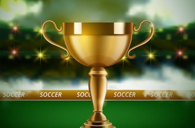 Fútbol campeonato mundial copa fondo fútbol Vector Premium