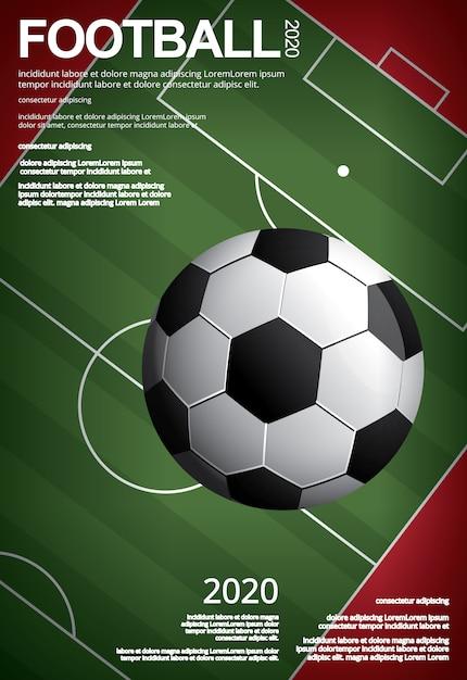 Fútbol fútbol cartel vestor ilustración vector gratuito
