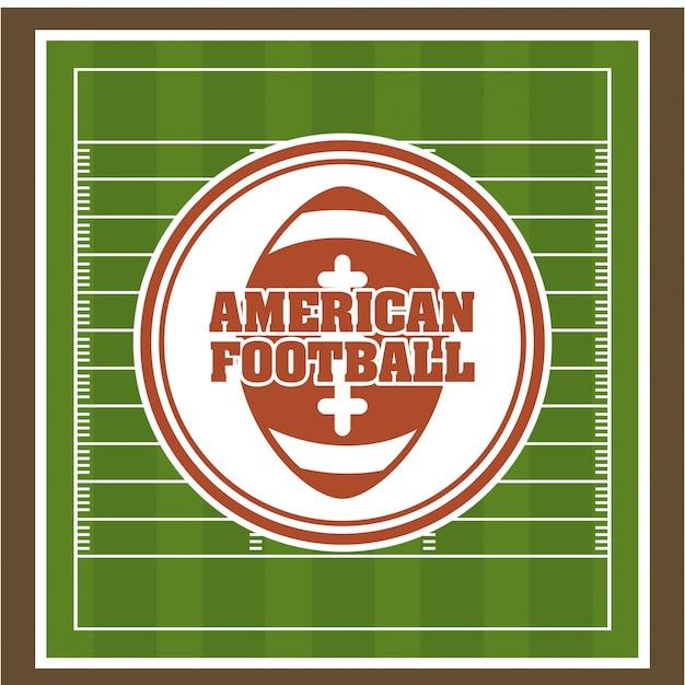 Fútbol sobre ilustración verde vector gratuito