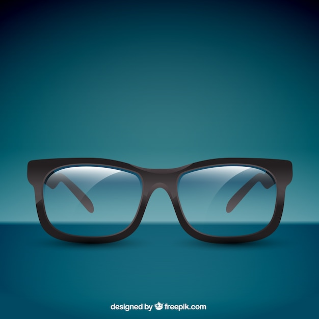 Gafas realistas vector gratuito