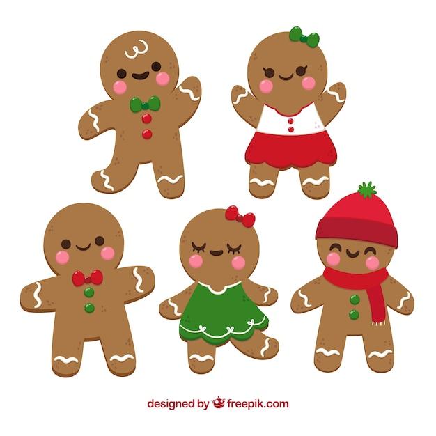 Imagenes De Galletas De Navidad Animadas.Galletas De Hombre De Jengibre En Estilo De Dibujos Animados