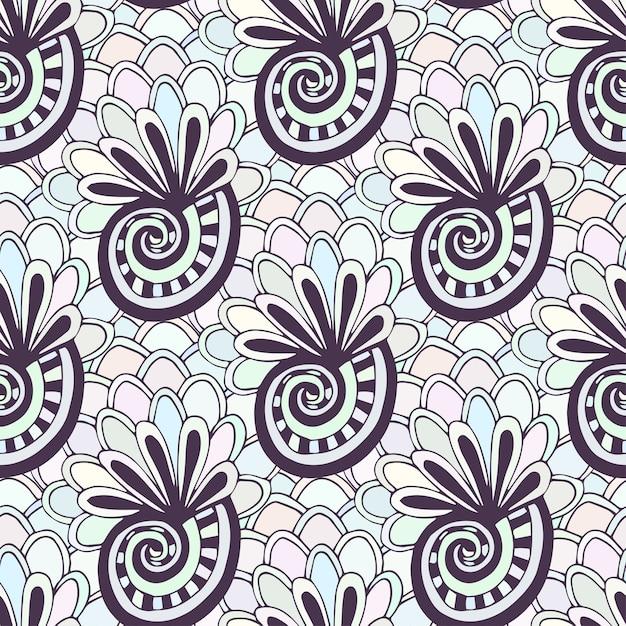 Garabatos de patrones sin fisuras con conchas marinas. página para ...