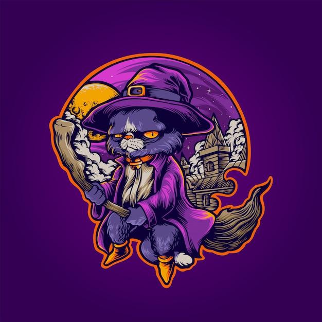 El gato brujo Vector Premium