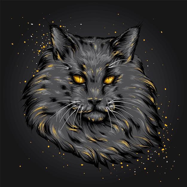 Un gato hermoso. gatito gracioso. Vector Premium