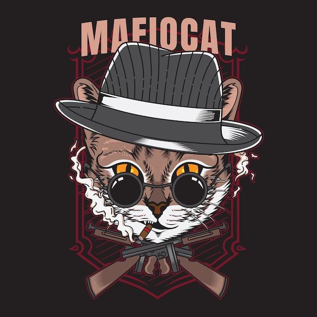 Gato mafioso Vector Premium