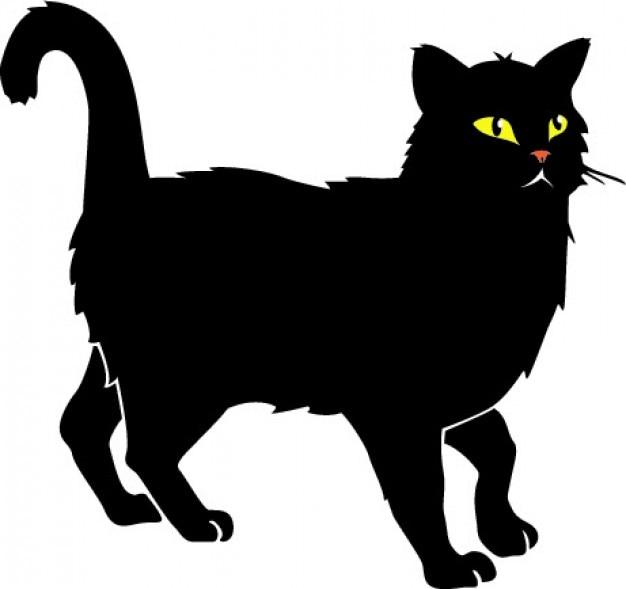 Gato negro con amarillo vector ojos   Descargar Vectores gratis