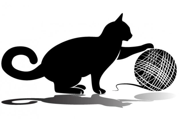 Gato Que Juega Con El Vector De Lana Descargar Vectores Gratis