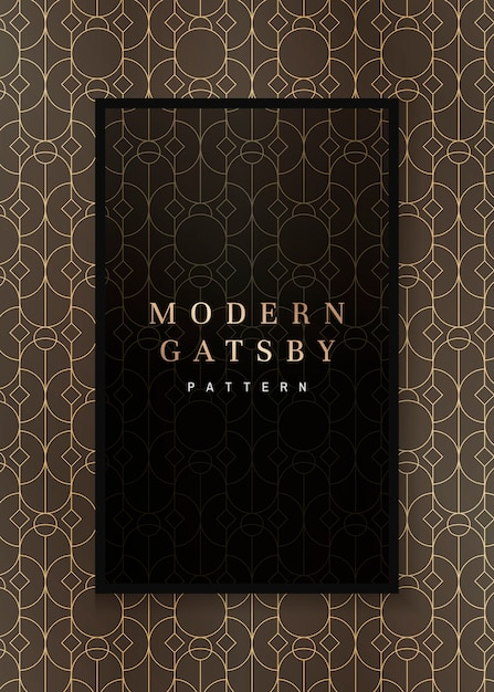 Gatsby marco estampado vector gratuito