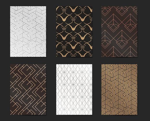 Gatsby patrón conjunto vector gratuito