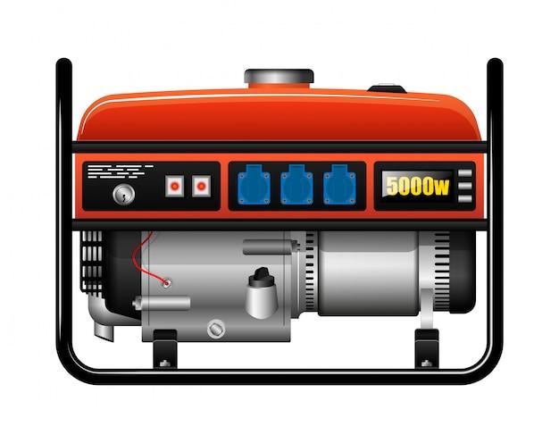 Generador eléctrico portátil portátil. corte de energía. accidente o accidente. fuente de alimentación de repuesto. Vector Premium
