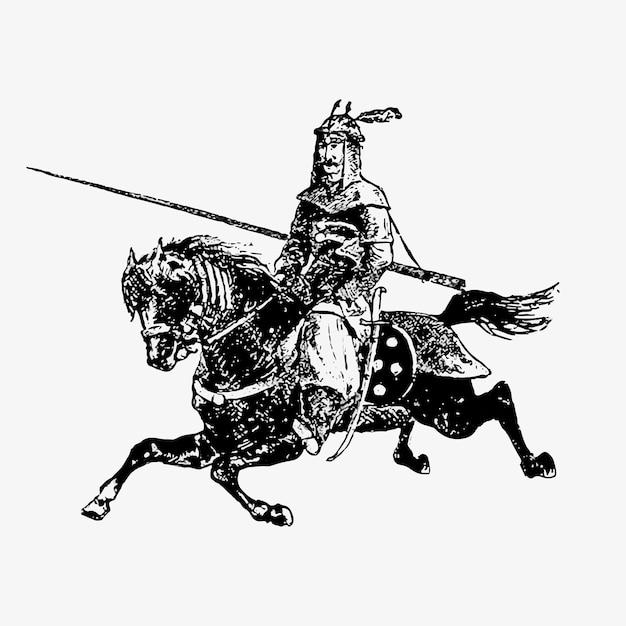General del ejército oriental en un caballo vector gratuito