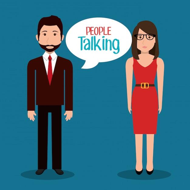 Gente hablando vector gratuito