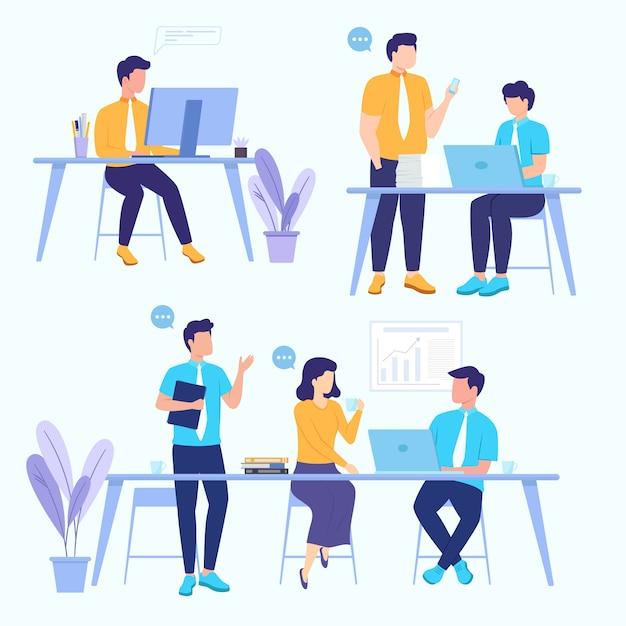 Gente de negocios trabajando juntos vector gratuito