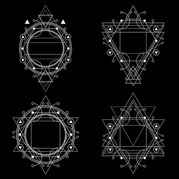 Geometría sagrada antigua Vector Premium