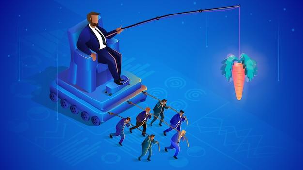 Gestión de la multitud oculta. globalización Vector Premium