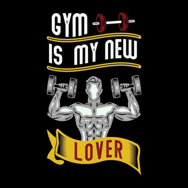 El gimnasio es mi nuevo amante Vector Premium