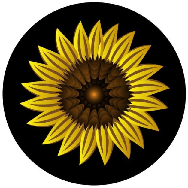 Girasol clip art amarilla Vector Gratis
