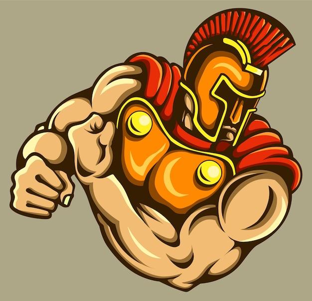 Gladiador mascota Vector Premium