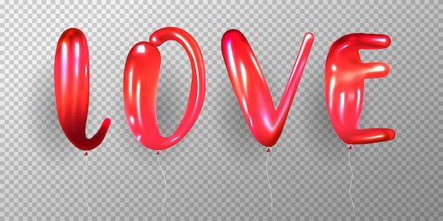 Globo rojo brillante realista vector gratuito